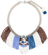 Radà - Collana con frange con perline - women - metal/Brass/PVC - OS - BLUE