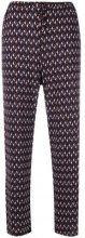 Max Mara - printed straight leg trousers - women - Viscose/Spandex/Elastane - L - BLUE