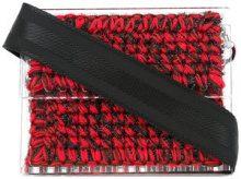 711 - Lucienne Copacabana clutch - women - Acrylic/Lurex - OS - RED