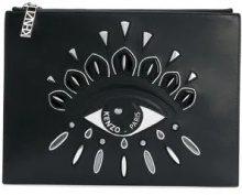 - Kenzo - Clutch con occhio - women - Cotone/Nylon/Leather - Taglia Unica - Nero