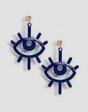 ASOS DESIGN - Orecchini colorati con occhio - Blu