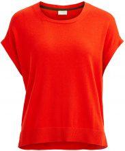 VILA Knittted Short Sleeved Top Women Orange