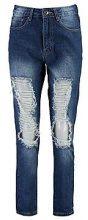 Sally jeans taglio maschile effetto molto consumato