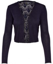 ONLY Short Knitted Cardigan Women Blue