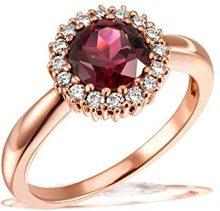 goldmaid FINERING - Anello, con Granato Diamante, Oro rosso, misura 56 (17.8)