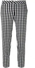 Twin-Set - gingham cropped trousers - women - Polyester/Spandex/Elastane - S - WHITE