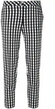 Twin-Set - gingham cropped trousers - women - Polyester/Spandex/Elastane - S, L - WHITE