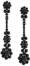 Simone Rocha - crystal beaded drop earrings - women - Acrylic - OS - BLACK