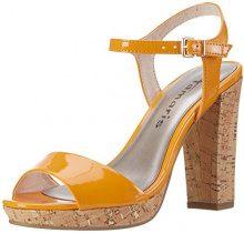 Tamaris 28002, Sandali con Tacco Donna, Arancione (Orange Patent 607), 38 EU