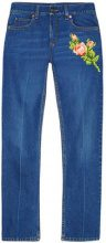 Gucci - embroidered jeans - women - Cotton - 25, 26, 28, 27, 29, 30 - BLUE