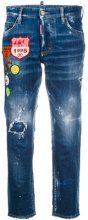 - Dsquared2 - Jeans cropped - women - fibra sintetica/cotone - 40 - di colore blu
