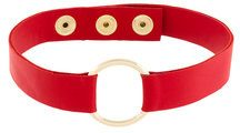 Manokhi - circle shape collar - women - Leather - OS - Rosso