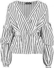 Grace Wrap Stripe Shirt