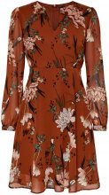 ONLY Flower Printed Short Dress Women Orange
