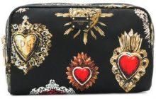 Dolce & Gabbana - Trousse con motivo Sacro Cuore - women - Polyamide - One Size - BLACK