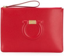 Salvatore Ferragamo - Borsa Clutch - women - Leather - OS - RED