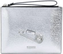 Versus - Clutch - women - Calf Leather - OS - METALLIC