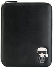 Karl Lagerfeld - Ikonik iPad organizer - women - PVC - One Size - BLACK