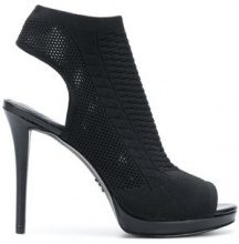Michael Michael Kors - Pumps con dettaglio cut out - women - Wool/Leather/rubber - 7, 6, 7.5, 8.5, 9, 10 - BLACK