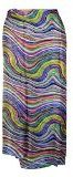 PAREO in seta fantasia strisce multicolore Moda accessori abbigliamento donna mare