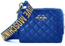 Love Moschino Borsa Nappa Pu Trapuntata Blu - Borse a spalla Donna, Blau (Blue), 15x20x7 cm (L x H D)