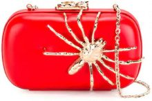 Corto Moltedo - Susan C Star clutch bag - women - Nappa Leather/Brass/Silk Satin - One Size - RED