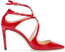 Jimmy Choo - Pumps 'Lancer' - women - Calf Leather/Patent Leather/Leather - 35, 36, 37, 37.5, 38.5, 39, 40 - RED