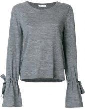 - P.A.R.O.S.H. - Maglione con cordoncino - women - lana - S - di colore grigio
