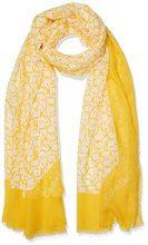 Calvin Klein Ck Allover Scarf, Sciarpa Donna, Rosso (Golden Rod 700), Taglia unica (Taglia Produttore: OS)
