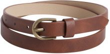 PIECES Thin Belt Women Brown