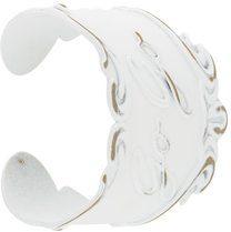 Mm6 Maison Margiela - 'Go Go' bracelet - women - Brass - M, L - Bianco