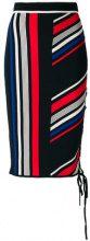 Tommy Hilfiger - lace-up striped skirt - women - Polyamide/Viscose - M, L, S - MULTICOLOUR
