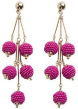 PIECES Long Pearl Earrings Women Pink