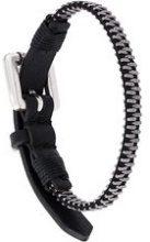 Diesel - Braccialetto 'Zipper' - women - Calf Leather/metal - One Size - Nero