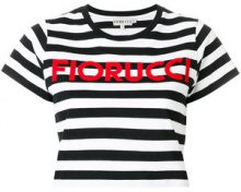 Fiorucci - T-shirt crop a righe - women - Cotton - S, M, XS, L - BLACK