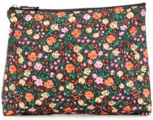 Ganni - floral print make up bag - women - Polyester - OS - MULTICOLOUR