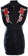Jessica Rose Embroidered Denim Bodycon Dress