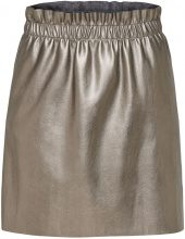 ONLY Leather Look Skirt Women Grey