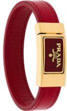 Prada - Braccialetto con logo - women - Leather - L - RED