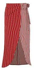 Jasmin Mixed Stripe And Wrap Woven Midi Skirt