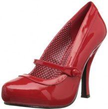 Pleaser EU-CUTIEPIE-02 CUTIE02/RPT, Scarpe col tacco donna, Rosso (Rot (Red pat)), 35