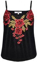 FIND Embroidered Top Donna, Nero (Black), 48 (Taglia Produttore: X-Large)