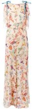 Red Valentino - bird print jumpsuit - women - Silk/Polyester - 38 - NUDE & NEUTRALS