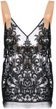 Nº21 - strappy lace blouse - women - Polyester/Polyamide - 44, 38, 40, 42 - BLACK