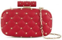 Valentino - Clutch 'Rockstud Spike' Valentino Garavani - women - Calf Leather - OS - RED