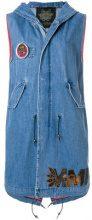 Mr & Mrs Italy - sleeveless denim vest - women - Cotton - XXS, XS, S, M - BLACK