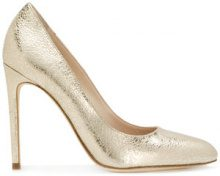 Twin-Set - Pumps con tacco metallizzato - women - Leather - 37.5, 39.5, 41 - METALLIC