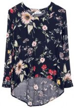 Blusa con stampa floreale
