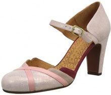 Chie Mihara Quass, Scarpe col Tacco Punta Chiusa Donna, Rose (Danna maitai Pink-Ante Nude), 37 EU
