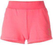 Ea7 Emporio Armani - Shorts con logo stampato - women - Cotone/Spandex/Elastane - XS, L - PINK & PURPLE